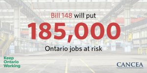 """Bill 148 will put 185,000 Ontario jobs at risk"""