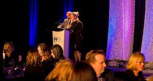 Jerry Archer and Carolyn Ellis emceeing 2017 gala.