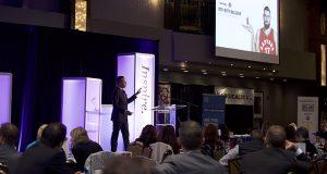 Jeff Deline delivering keynote address