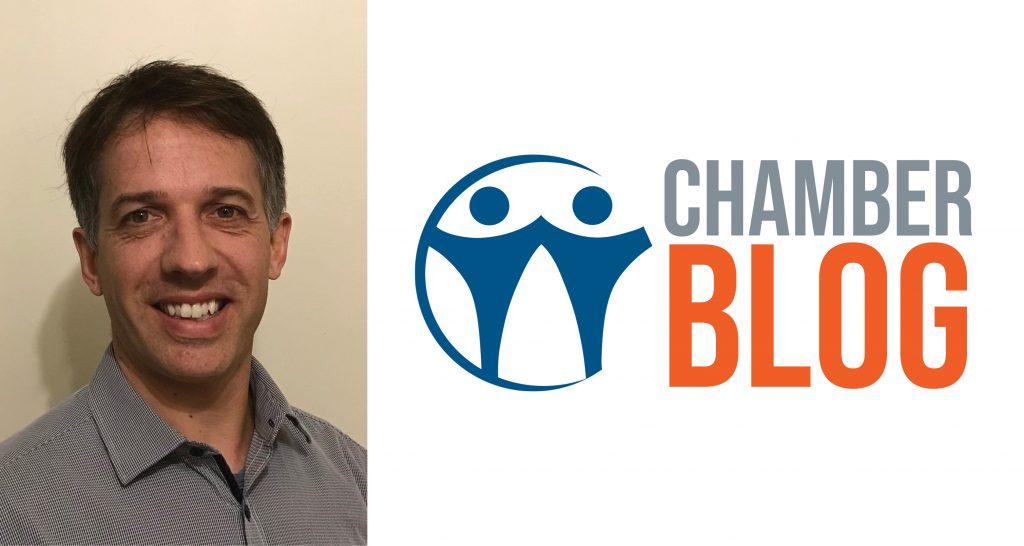 Chamber Blog header with Tiago's headshot