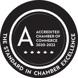Accredited Chamber of Commerce 2020-2022 with distinction.