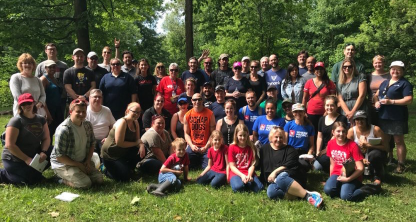 Members pose for group photo after Lynde Creek Spring Cleanup